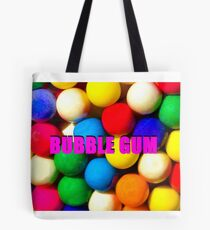 Bubble Gum with text Tote Bag