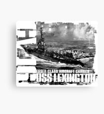 Aircraft carrier Lexington Canvas Print
