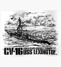 Aircraft carrier Lexington Poster