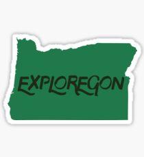Exploregon Oregon State Sticker