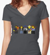 Lego Earp Squad Women's Fitted V-Neck T-Shirt