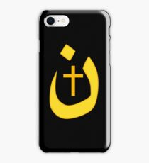 Christian Nazarene Symbol Solidarity and Cross iPhone Case/Skin