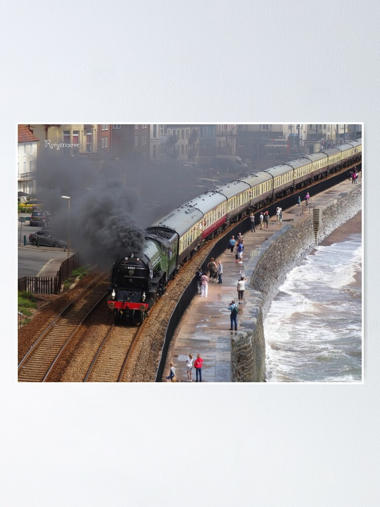 Alternate view of LNER 60163 'Tornado' at Dawlish Poster
