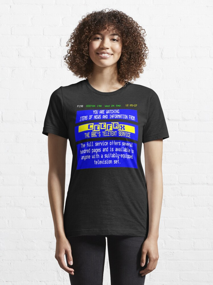 Alternate view of NDVH Pages From Ceefax Essential T-Shirt