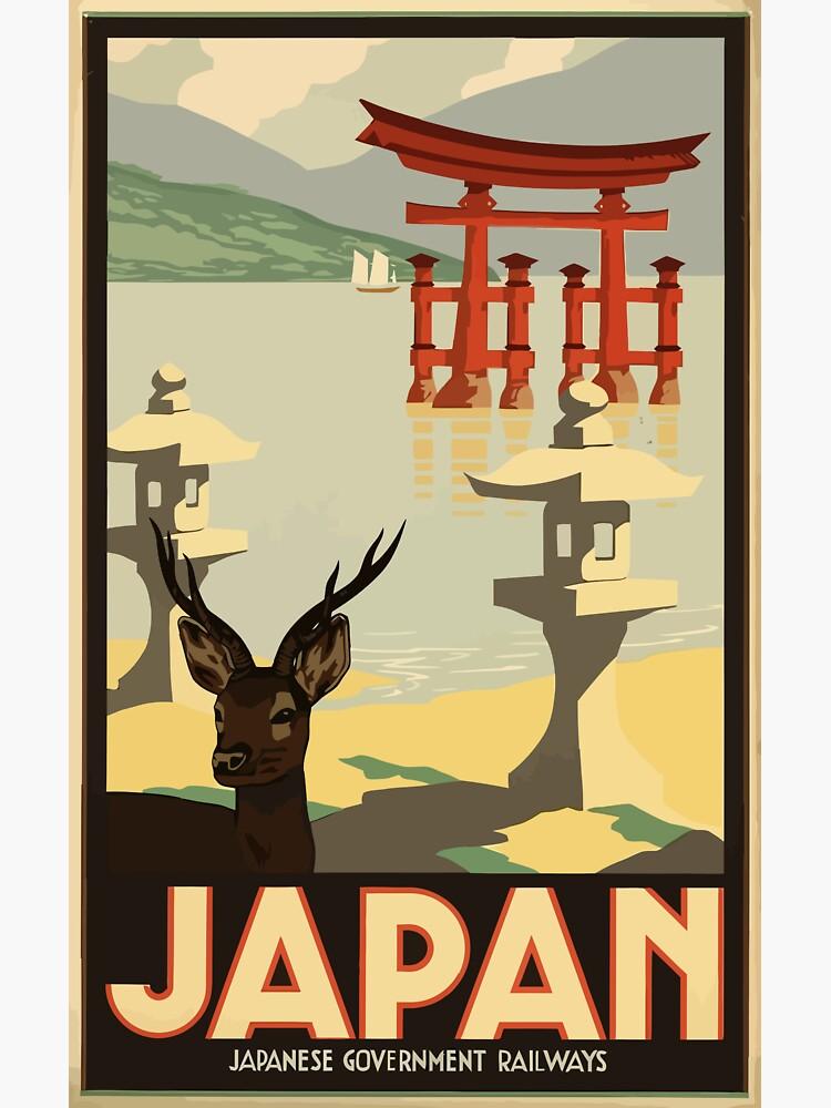 Vintage Travel Japan Poster by SuperPayce