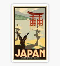Vintage Travel Japan Poster Sticker