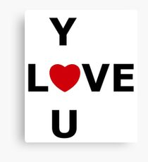 Simplistic LOVE YOU Canvas Print