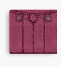 Classic Style Raspberry Jeans Canvas Print