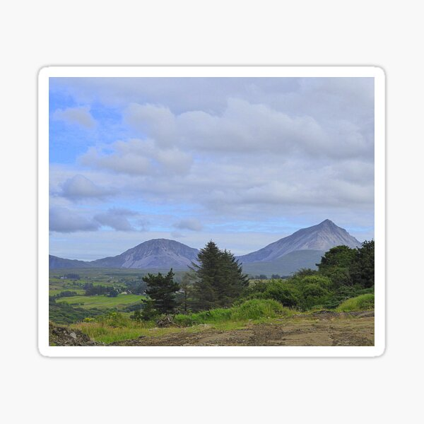Mount Errigal From A Different Angle Sticker