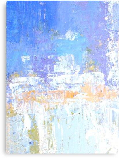 Blue aqua abstract no 45 by Susan Grissom