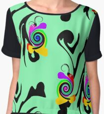 Moony the Snail Women's Chiffon Top