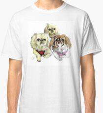Three Pekingese Dogs Classic T-Shirt