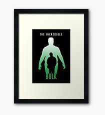 The Incredible Bulk Framed Print