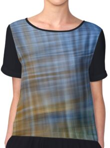 Pacific Ocean Blues #4 Women's Chiffon Top