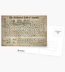 Alchemical Table of Symbols Postcards