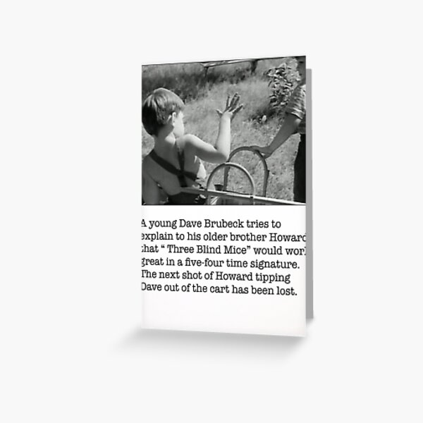 Young Dave Brubeck Greeting Card