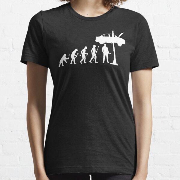 Evolution Of Man and Mechanic Funny Shirt Essential T-Shirt