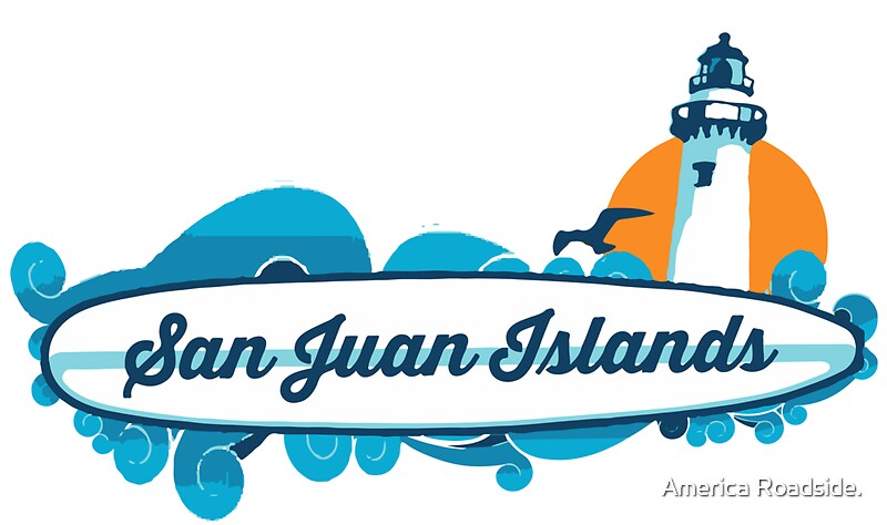 flat top haircut quot san juan islands quot stickers by america roadside redbubble 2235