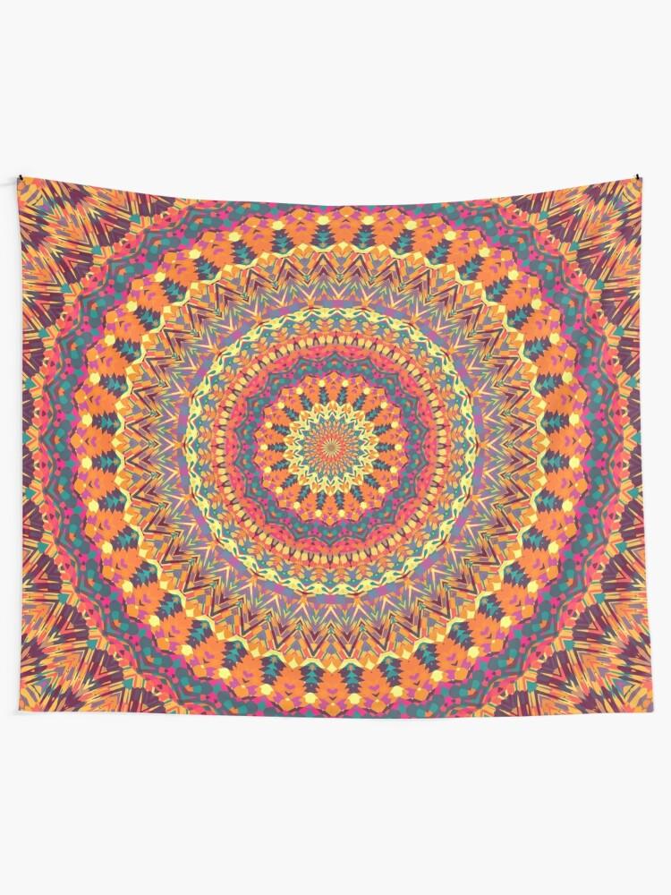 Alternate view of Mandala 61 Tapestry