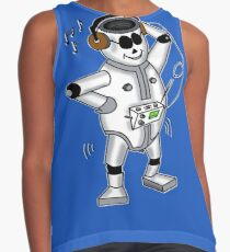 retro robot -the groover t-shirt Contrast Tank