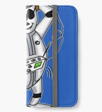 retro robot -the groover t-shirt iPhone Wallet/Case/Skin