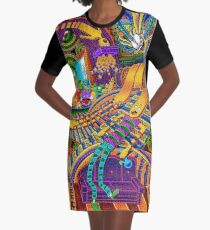 The Conductor of Consciousness Graphic T-Shirt Dress