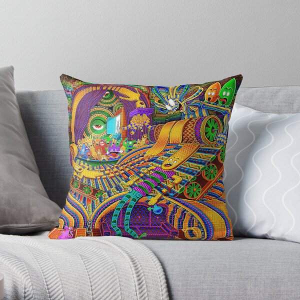 The Conductor of Consciousness Throw Pillow