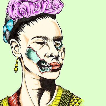 Zombie Frida by drogelart