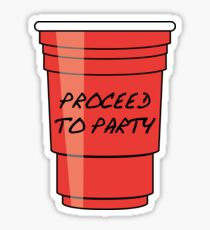 Proceed to Party Sticker