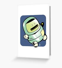 Floater Robot Greeting Card