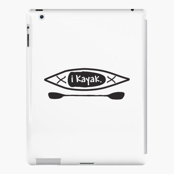 iKayak - Kayak and paddle black and white illustration iPad Snap Case