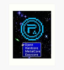 Periphery 8-bit Blue/Select Difficulty Art Print