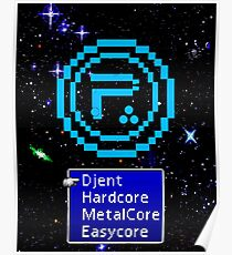Periphery 8-bit Blue/Select Difficulty Poster