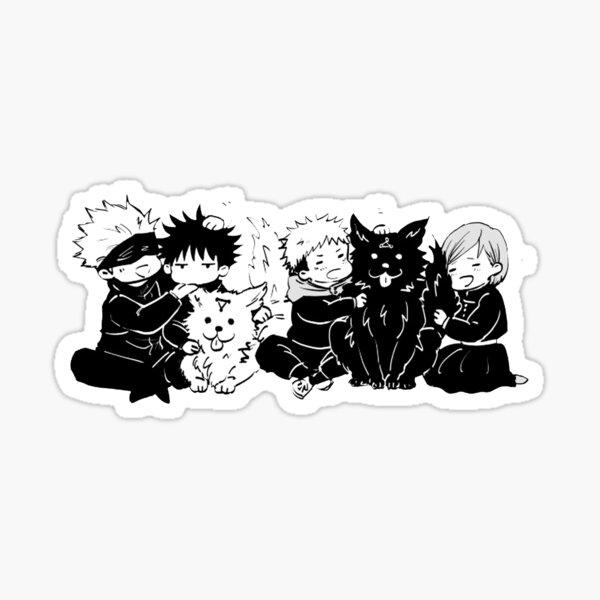Jujutsu Kaisen Amis, Satoru, Yuji, Nobara, Megumi, Gojo Chibi, JJK Chibi Sticker