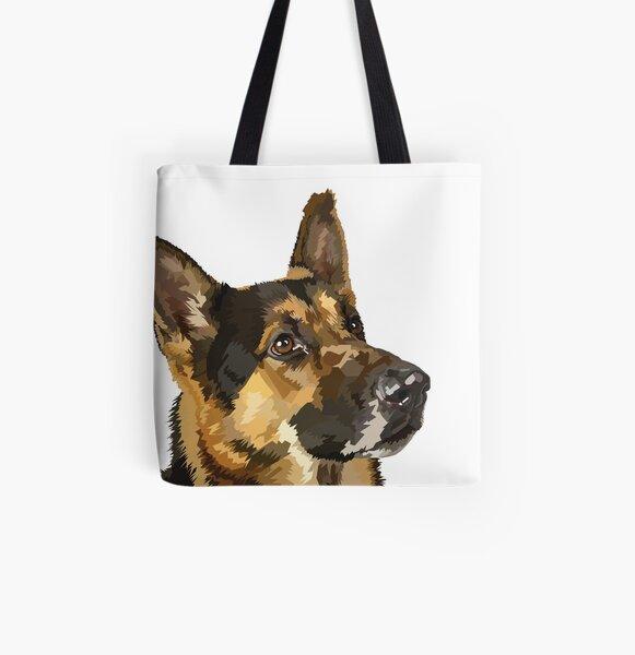 German Shepherd  All Over Print Tote Bag
