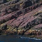 Colours and Textures at Bottom of Cliff Face, Bay Bulls, NL, Canada by Gerda Grice