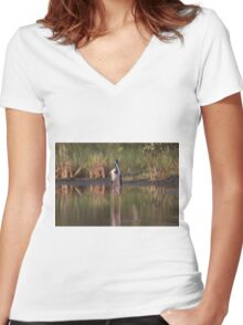 On Stilts Women's Fitted V-Neck T-Shirt