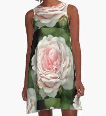 Pink Rachis Rose A-Line Dress