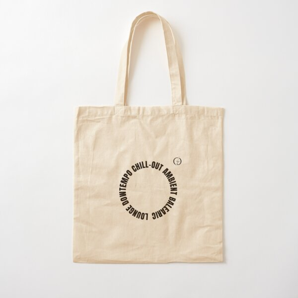 Balearic lounge downtempo chill-out ambient black Cotton Tote Bag