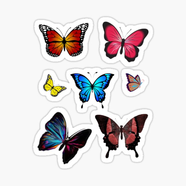 Easily distracted by butterfly Sticker
