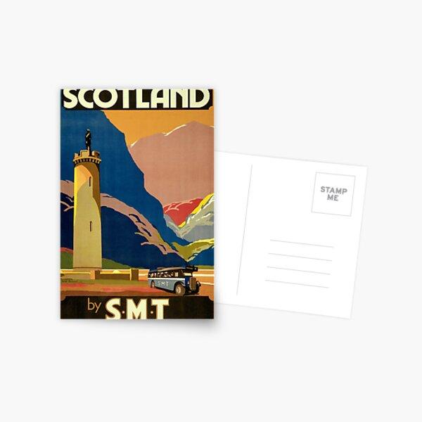 Scotland Vintage Travel Poster Restored Postcard