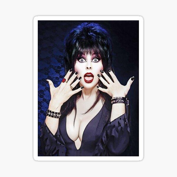 Elvira Mistress of the Dark Pop Art Illustration Sticker