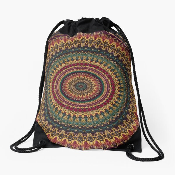 Mandala 11 Drawstring Bag