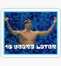 Michael Phelps Celebration 16 Jahre Olympian Sticker