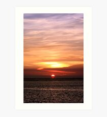 Gulf of Mexico Sunset Art Print