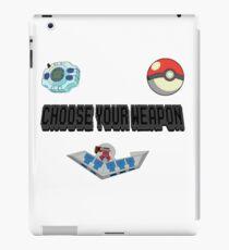 Choose Your Nostalgia Weapon iPad Case/Skin