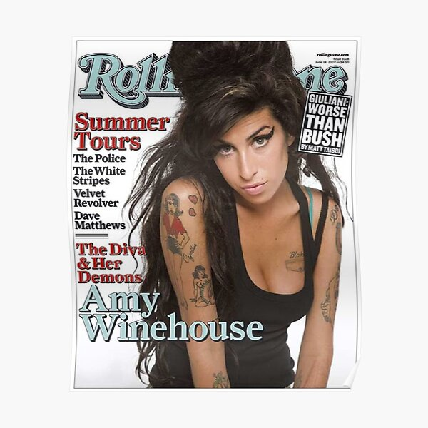 Beautiful Woman winehouse With Long Hair Poster