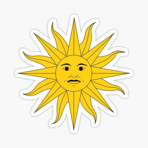 Uruguay Sun Pegatina