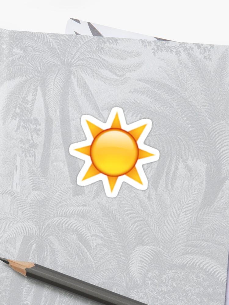 Sun Emoji Sticker   Sticker