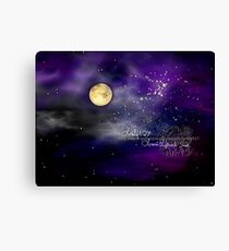 once upon a starry night    Canvas Print